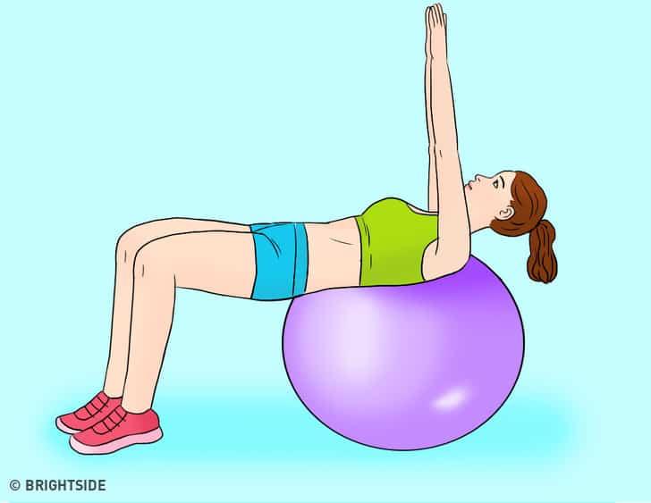 bài tập vươn tay giúp giảm mỡ bụng